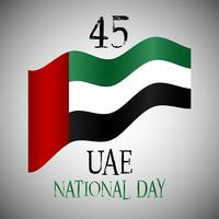 Decorative background for UAE National Day celebration vector