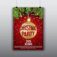 Christmas flyer background vector