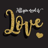 All you need is love background vector