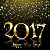 Stella d'oro felice anno nuovo sfondo
