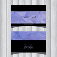Tarjeta de visita de diseño geométrico