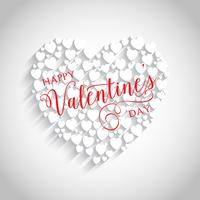 Valentine's Day heart background  vector