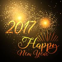 Happy New Year background with fireworks design