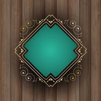 Decorative frame on wood  vector