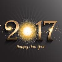 Gelukkige Nieuwjaarachtergrond met vuurwerkontwerp