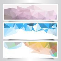 Banners de desenho geométrico abstrato