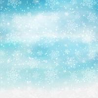 Akvarell jul snöflingor