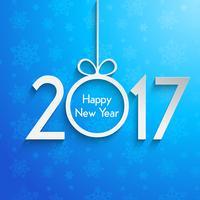 Feliz año nuevo fondo con copos de nieve