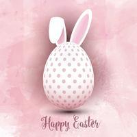 Huevo de Pascua sobre fondo de acuarela