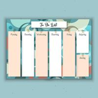Retro weekly planner