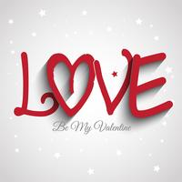 Alla hjärtans dag bakgrund med ordet kärlek
