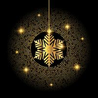 Gouden Kerstmis sneeuwvlok achtergrond