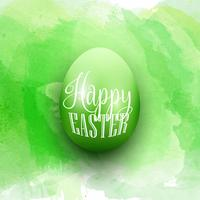 Easter egg on a watercolor background