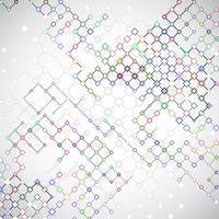 Abstract background with connecting lattices