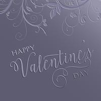 Floral Valentines Day background