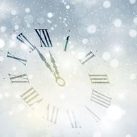 Fond d'horloge de bonne année