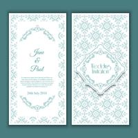 Decorative wedding invitation design