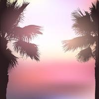 Retro, estilo, palma, árvore, fundo