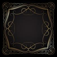 Decorative gold border on black