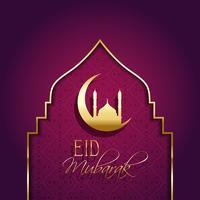 Fondo Eid Mubarak con tipo decorativo.
