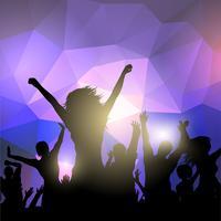 Silhouette di una folla di festa