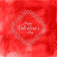 Aquarell Valentinstag Hintergrund