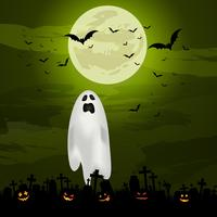Fundo de fantasma de Halloween