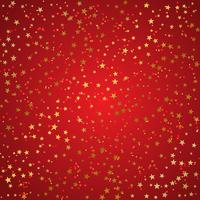 Christmas background of gold stars  vector