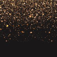 Fondo de confeti dorado vector