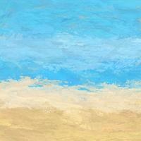 Abstract painted beach landscape