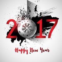 Sfondo di felice anno nuovo grunge