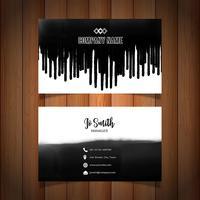 Visitenkarte mit schwarzem Lack tropft
