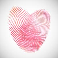 Watercolor fingerprint hearts vector