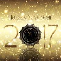 Goldener Hintergrund des neuen Jahres