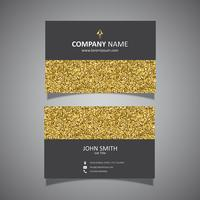 Gold glitter business card design