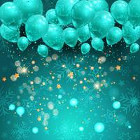 Christmas balloons background vector