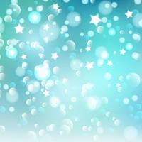 Christmas bokeh lights and stars