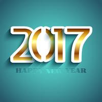 Typography New Year achtergrondontwerp