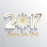 Sfondo di felice anno nuovo fiocco di neve