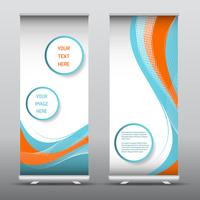 Advertising roll up banners with abstract design vector