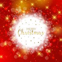 Dekorativer Weihnachtsschneeflockenhintergrund