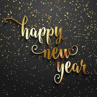Happy New Year confetti background vector