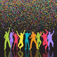 Colourful party people background  vector
