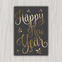decorative happy new year card