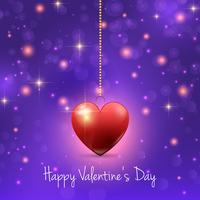 Fondo de San Valentín con corazones y luces.