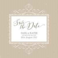 Rustikal speichern Sie die Datumseinladung