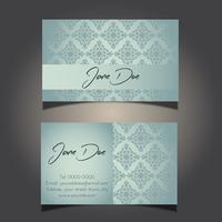 design de cartão de visita decorativo 0906