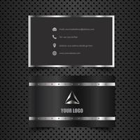 Business card mock up with metallic design vector