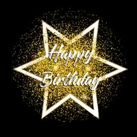 Gold glitter happy birthday background