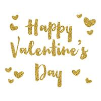 Glitter Valentines day background  vector
